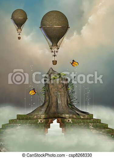 Fantasy landscape - csp8268330