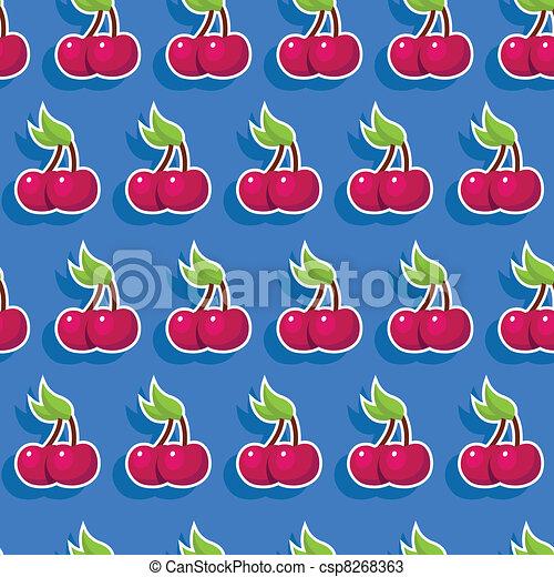 Seamless Cherry Pattern - csp8268363