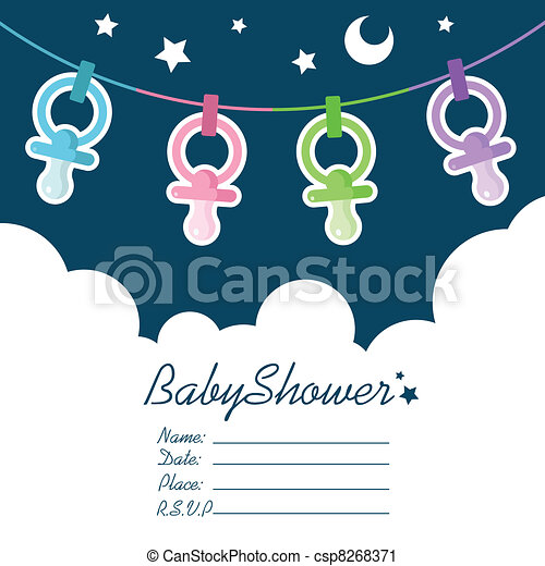 Baby Shower Invitation - csp8268371