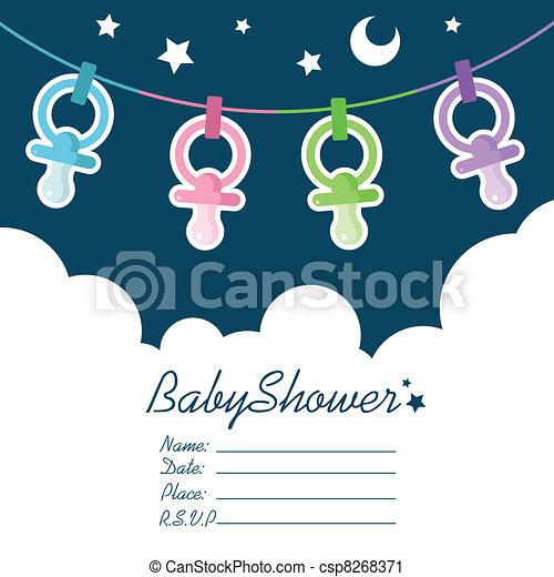 Baby Shower Invitation - csp8268371