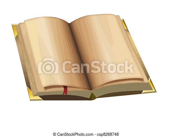 Open old book - csp8268748