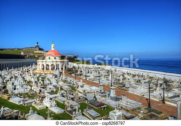 Cemetery in San Juan, Puerto Rico - csp8268797