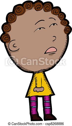 Mixed Race Child - csp8268886