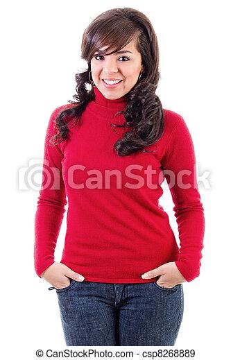 Casual woman - csp8268889
