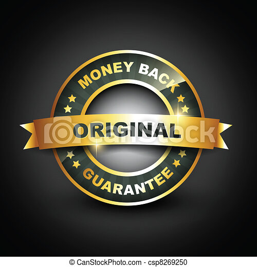 golden mney back guarantee label - csp8269250