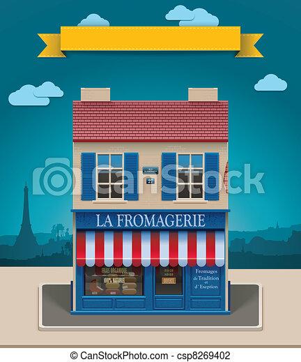 Vector cheese shop XXL icon - csp8269402