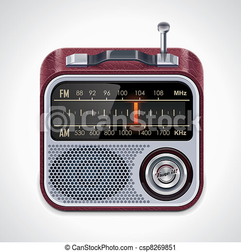 Vector radio XXL icon - csp8269851