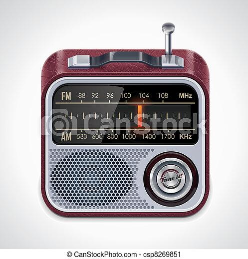 Vector radio XXL icon - csp8269851