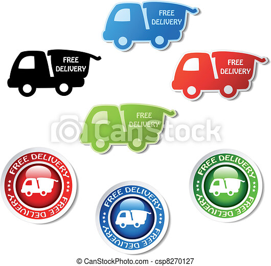 Vector stickers of free delivery - csp8270127
