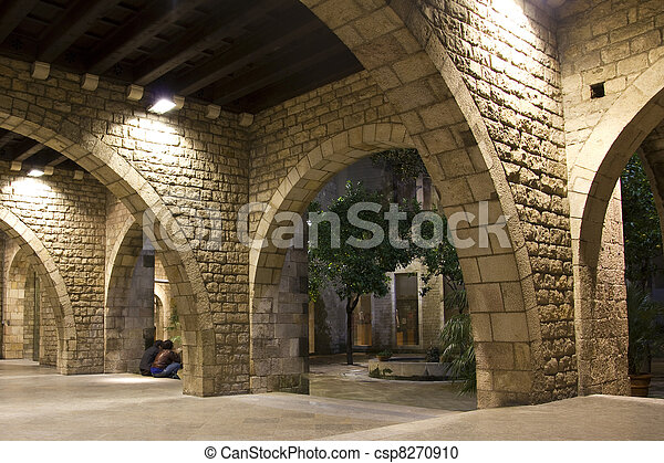 Gothic Quarter of Barcelona. - csp8270910