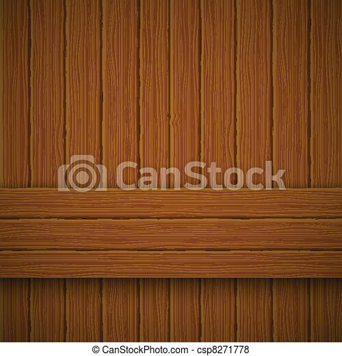 Wooden texture. Vector illustration - csp8271778