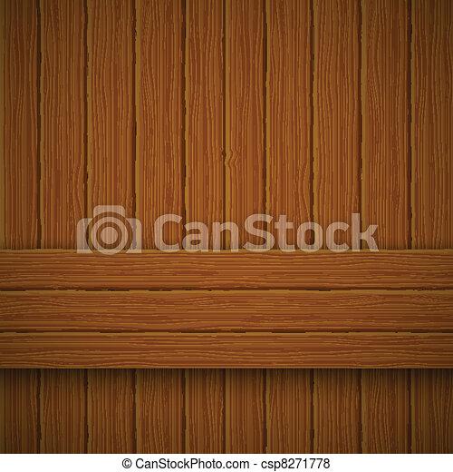 Wooden texture. Vector illustration  - csp8271778
