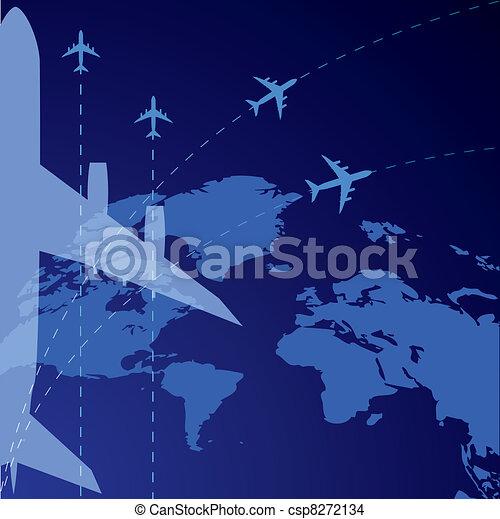 airplane, background - csp8272134
