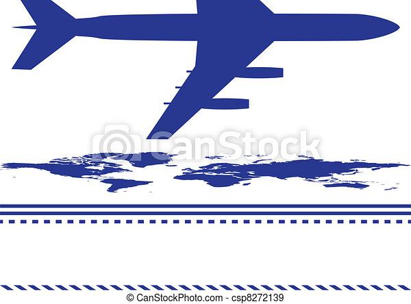 airplane, background - csp8272139