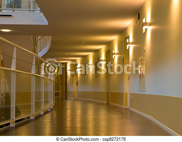 archway in a modern urban building - csp8272178