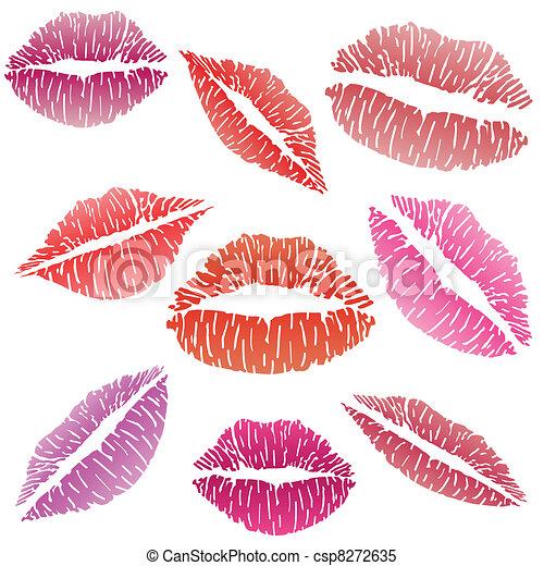 Sexy lipstick kiss - csp8272635