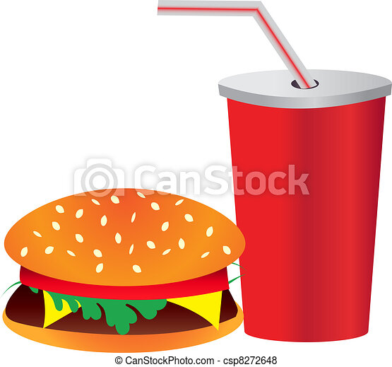 burger and drink - csp8272648