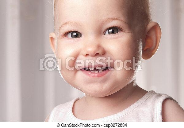 Happy baby face - csp8272834