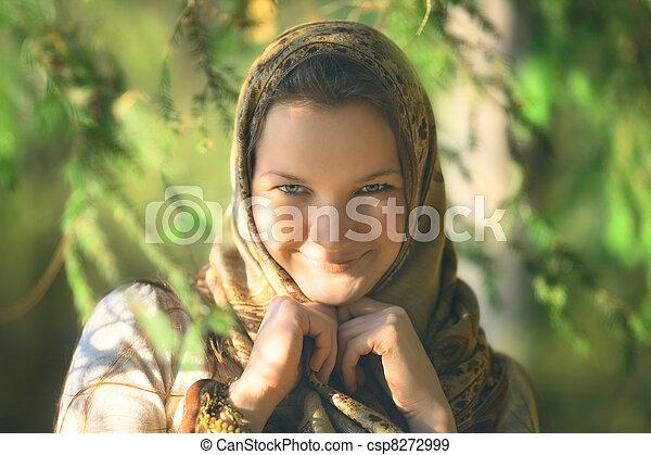 Russian Peasant Woman - csp8272999