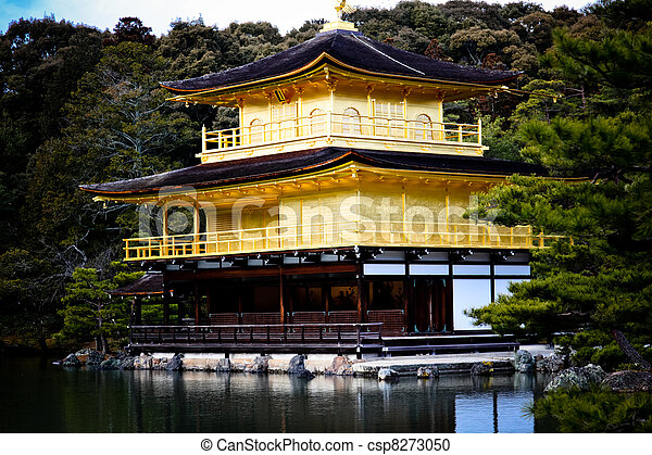 Golden Temple Kyoto World Heritage - csp8273050
