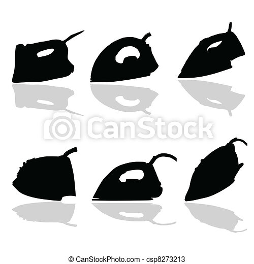 iron black vector silhouette - csp8273213
