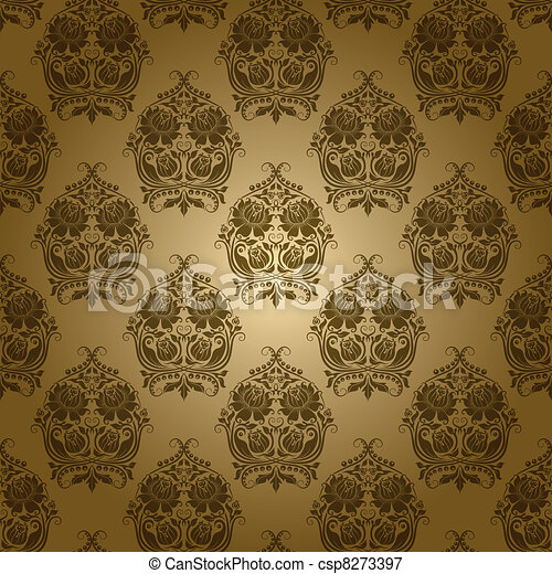 seamless floral pattern - csp8273397