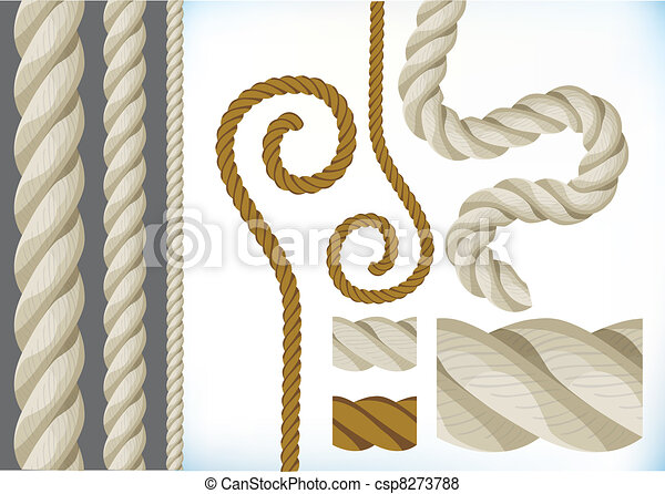 Collection of ropes - csp8273788