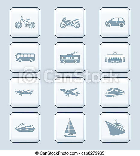 Transportation icons | TECH series - csp8273935