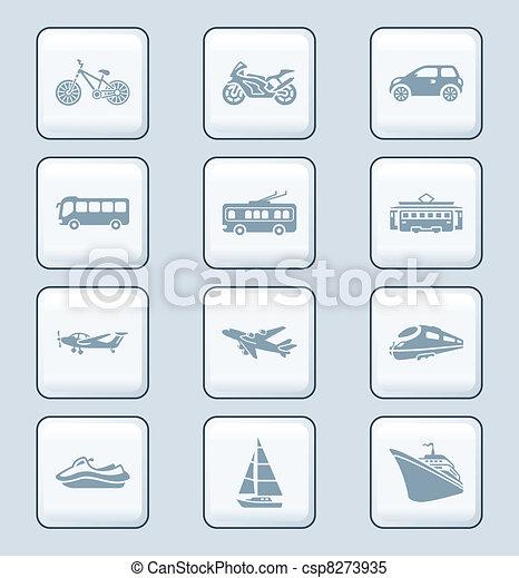 Transportation icons   TECH series - csp8273935