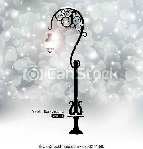 Street lantern - csp8274398