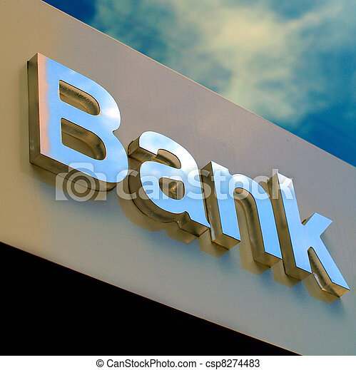 Bank office sign - csp8274483