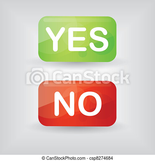 yes and no buttons - csp8274684