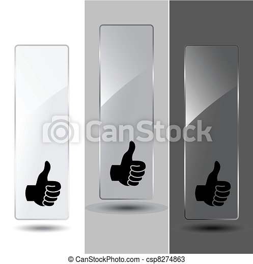 Vector glass banners for advertising text - csp8274863