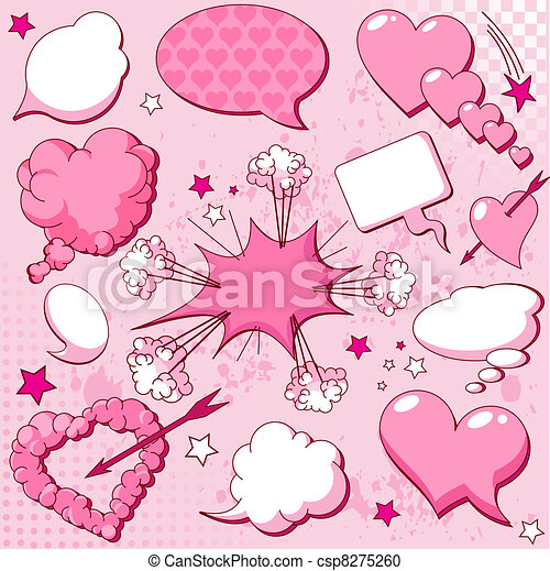 Love speech bubbles - csp8275260