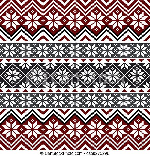 Schwedische traditionelle muster  Clip Art Vektor von muster, nordisch, schneeflocke - Nordic ...