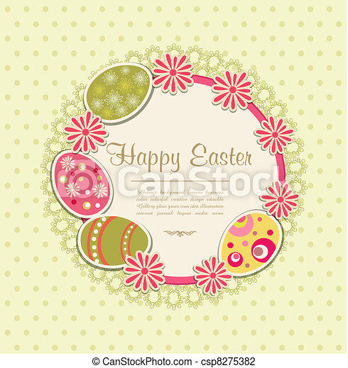 Easter holiday background - csp8275382