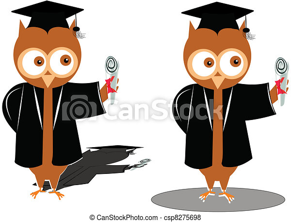 graduation owls - csp8275698