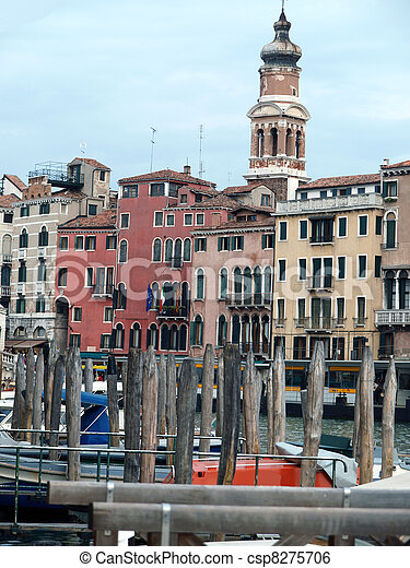 Venice - Exquisite antique buildings along Canal Grand - csp8275706
