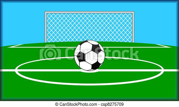 Soccer theme. - csp8275709