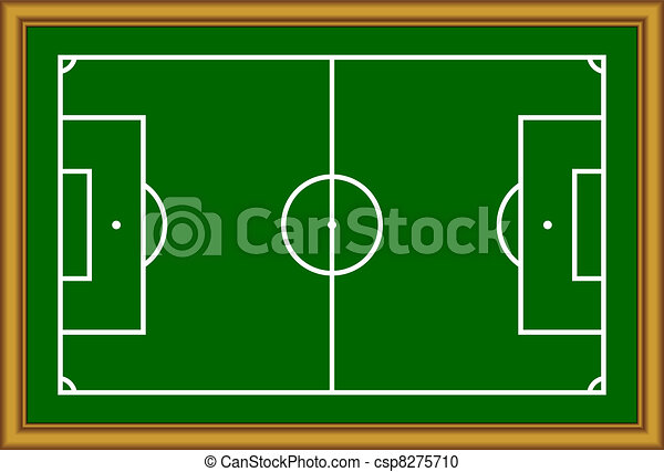 The soccer field scheme. - csp8275710