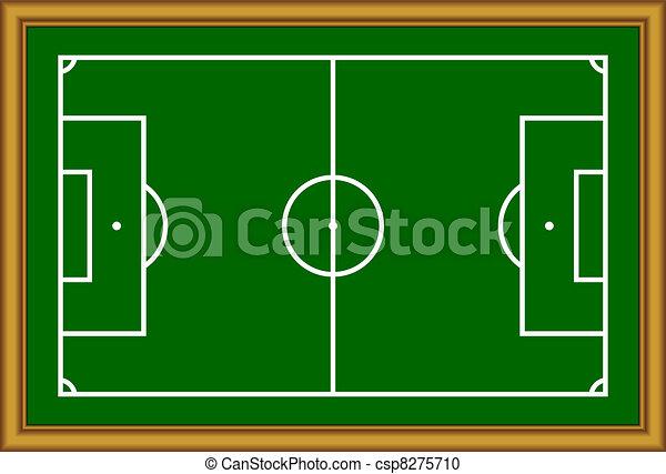 The soccer field scheme. - csp8275710