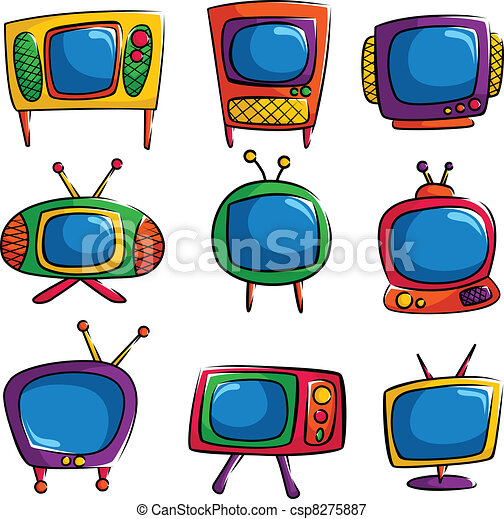 Television icons - csp8275887