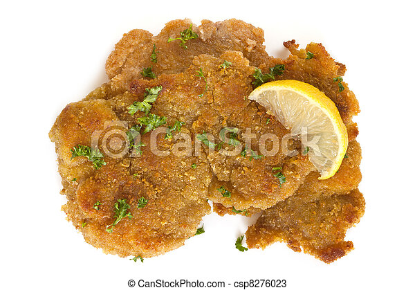 Schnitzel with Lemon - csp8276023