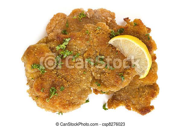 Schnitzel with Lemon - csp8276023