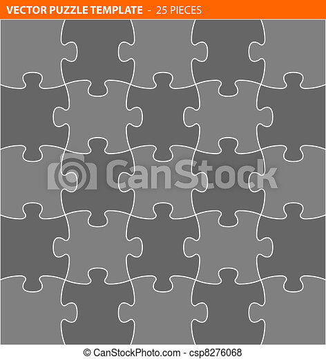 Complete vector puzzle / jigsaw template - csp8276068