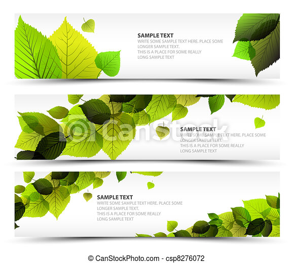 Vector Fresh spring horizontal banners - csp8276072