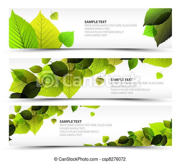 Vector Fresh spring horizontal banners - csp8276072