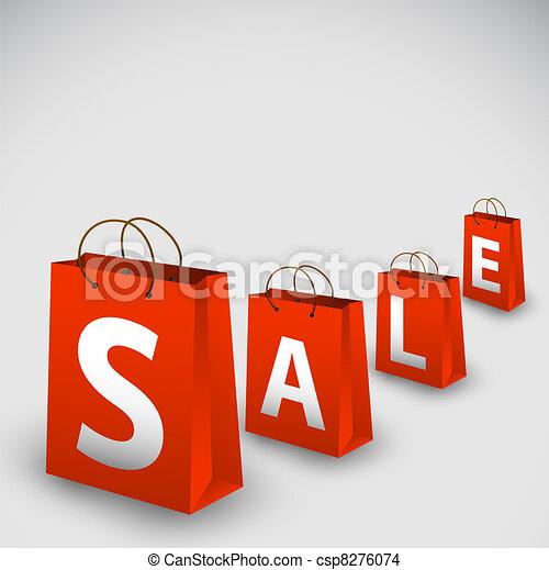 Vector sale poster - csp8276074