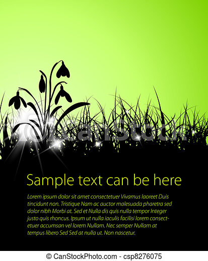 Spring vector grass background  - csp8276075