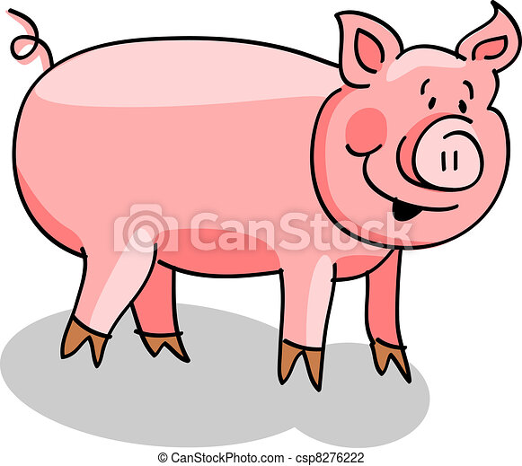 tecknad gris